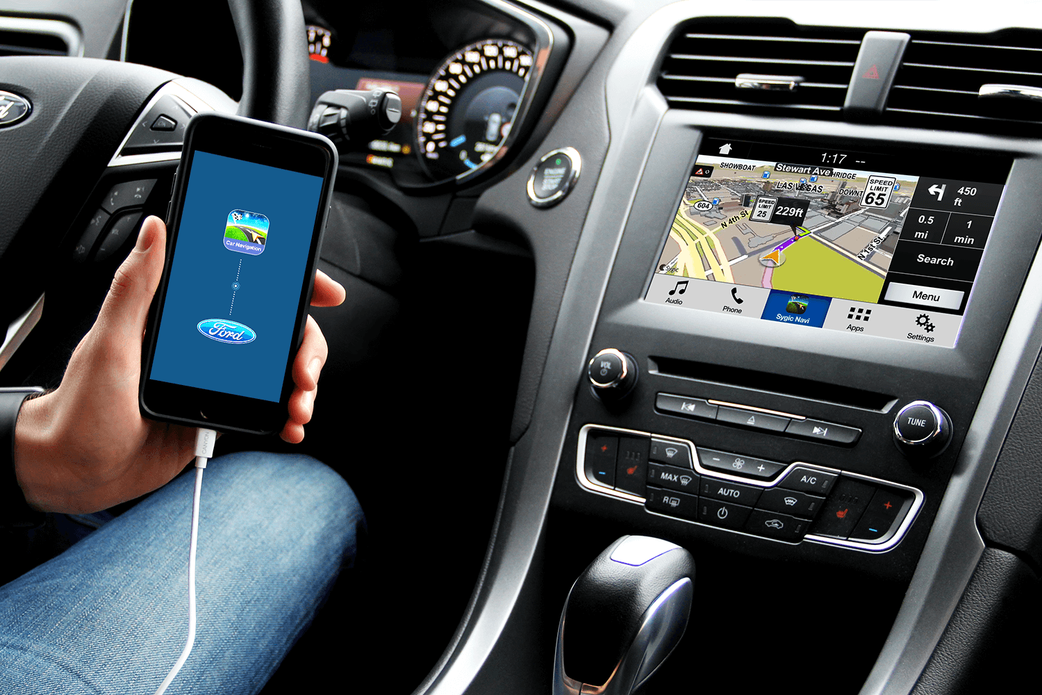 ford sync 3 with sygic car navigation for ios sygic bringing life to maps. Black Bedroom Furniture Sets. Home Design Ideas